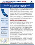 The first page of the San Diego Physical Activity In Action story
